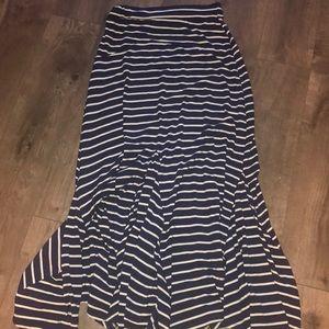 Zara basics cotton maxi dress with stretchy waist